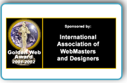 Website Design Award -International Association of WebMasters & Designers