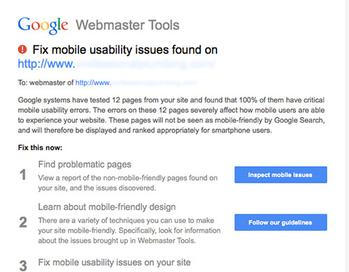 Google Warning Fix Mobile Usability Issues