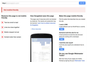 Mobile-Friendly Google Tool